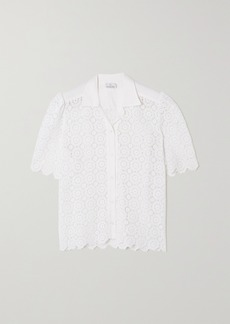 Miguelina Constance Crocheted Cotton Shirt