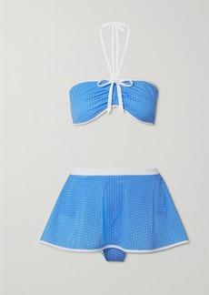 Miguelina Dory Polka-dot Halterneck Bikini