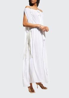 Miguelina Juno Off-Shoulder Belted Coverup Dress