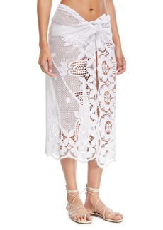 Miguelina Layna Crochet Pareo Coverup  One Size