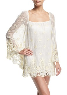 Miguelina Nicolette Sheer Lace Coverup Dress