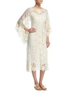 Miguelina Olivia Sheer Lace Coverup Dress