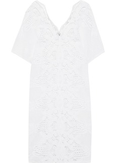 Miguelina Woman Kate Crocheted Cotton Coverup White