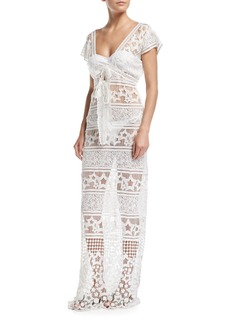 Miguelina Reina Star Sheer Lace Maxi Dress Coverup