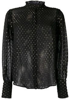 MiH Jeans Astel sheer embellished shirt
