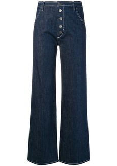 MiH Jeans button front high waisted jeans