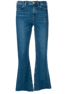 MiH Jeans distressed detail flared jeans
