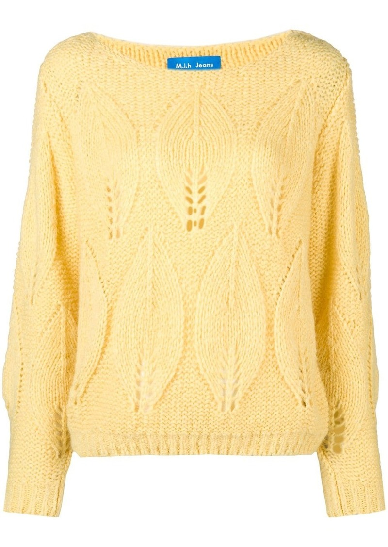 MiH Jeans Lacey leaf knit sweater