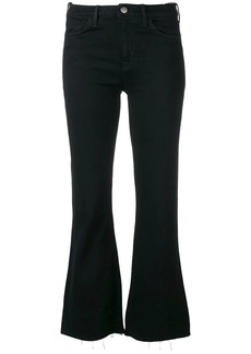 MiH Jeans Lou cropped flared jeans