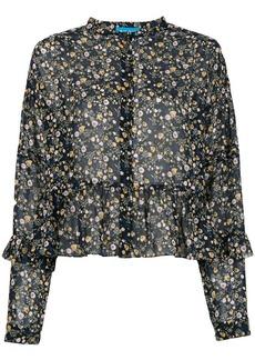 MiH Jeans mandarin collar long sleeved blouse