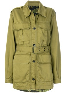 Mih Jeans belted military jacket - Green