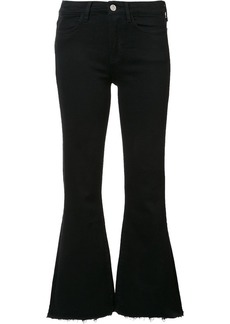 Mih Jeans cropped flared jeans - Black