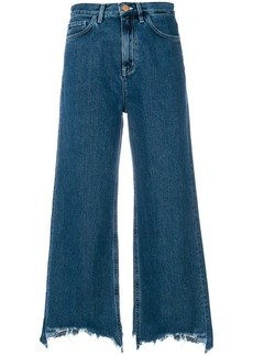 Mih Jeans cropped wide-leg jeans - Blue