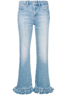 MiH Jeans ruffle trim flared leg jeans
