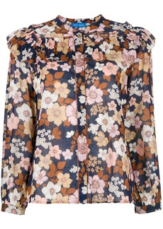 MiH Jeans ruffled floral blouse