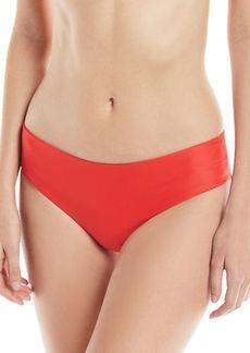 Mikoh Swimwear Cruz Bay Low-Rise Hipster Solid Swim Bikini Bottoms