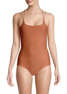 Mikoh Swimwear Kilauea One-Piece Strappy Back Swimsuit