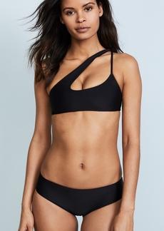 Mikoh Swimwear MIKOH Queensland Cross Shoulder Bikini Top