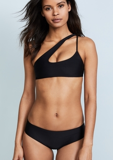 Mikoh Swimwear MIKOH Queensland Cross Shoulder Bikini Top