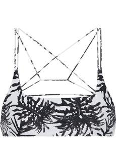 Mikoh Swimwear Mikoh Woman Alapio Printed Bikini Top Black