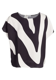 Milly Abstract Zebra Print Top