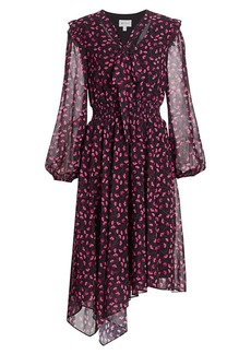 Milly Adeline Floral Midi Dress