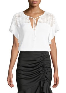 Milly Adeline Semisheer-Yoke Top