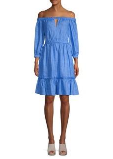Milly Amanda Off-The-Shoulder Flare Dress