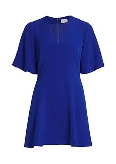 Milly Amelia Flutter Sleeve Mini Dress