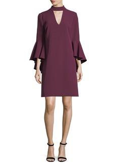 Milly Andrea Italian Cady Bell-Sleeve Dress