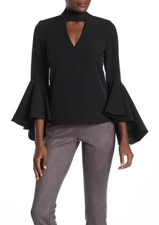 Milly Andrea Keyhole Bell Sleeve Choker Top
