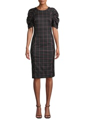 Milly Aria Check-Print Techno Dress