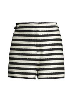 Milly Aria Yarn Dye Knit Shorts