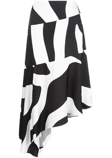 Milly asymmetric zebra print skirt