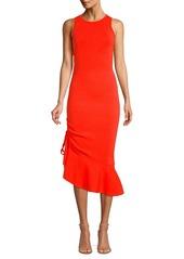 Milly Asymmetrical Flounce Hem Dress