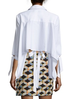 Milly Avery Spread Collar Top