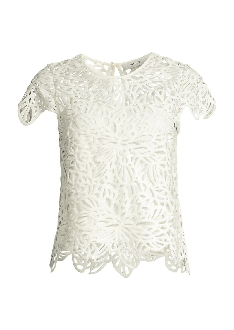 Milly Baby Embroidered Lace Top