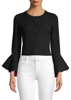 Milly Bell-Sleeve Cardigan