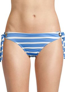 Milly Boca Striped Eyelet Bikini Bottom