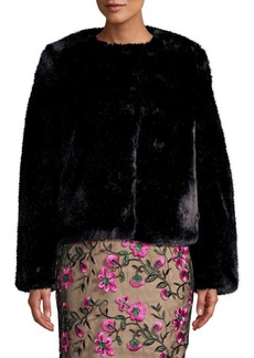 Milly Boxy Faux Fur Jacket