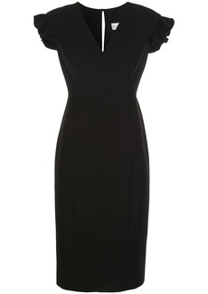 Milly Cady Beckett ruffle sleeve dress