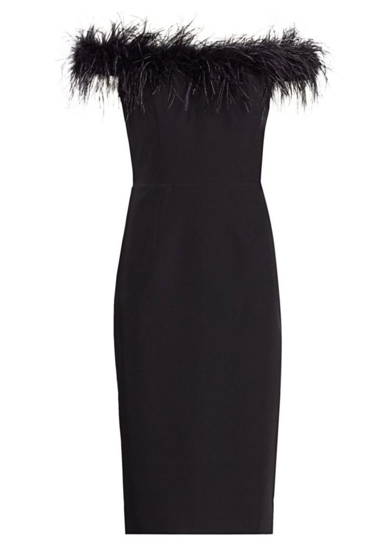 Milly Cady Feather Bodice Dress