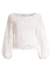 Milly Camila Crocheted Top