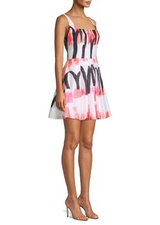 Milly Camilla Printed Mini Dress