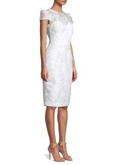 Milly Carolina Floral Cap-Sleeve Sheath Dress