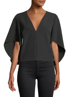 Milly Cascade Beetle Crepe Top