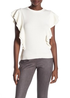 Milly Cascade Ruffled Knit Top