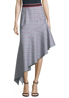 Milly Charlotte Asymmetrical Wool Skirt