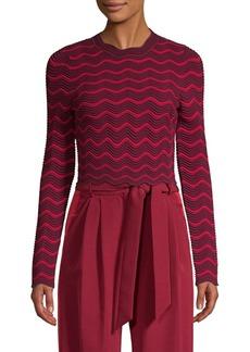 Milly Chevron-Knit Sweater