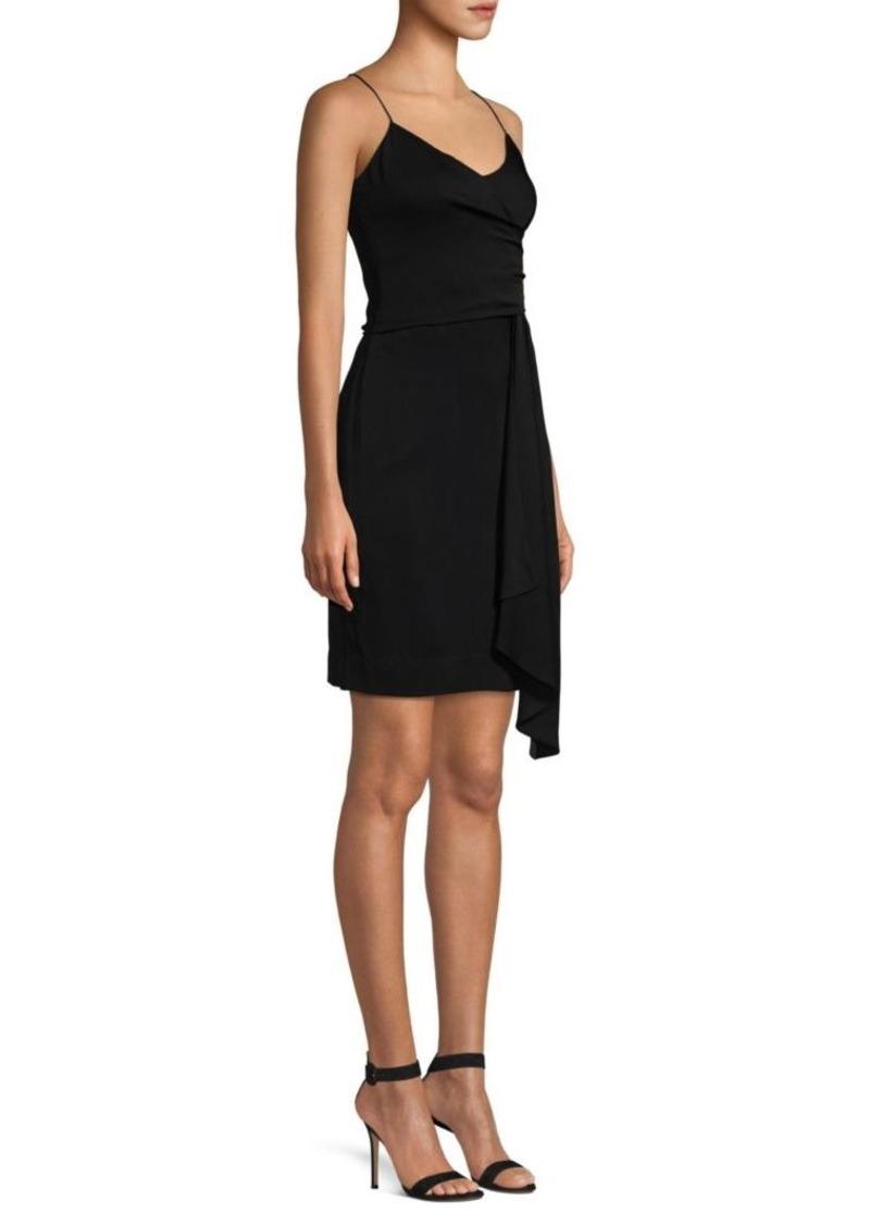 Milly Cindy Stretch Silk Wrapped Slip Dress